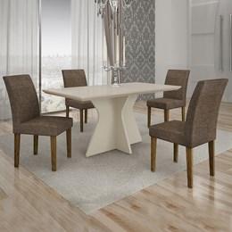 Conjunto de Mesa de Jantar Creta 4 Cadeiras OWOWYLM