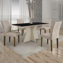 Conjunto de Mesa de Jantar Creta 4 Cadeiras POWYPP