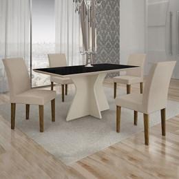Conjunto de Mesa de Jantar Creta 4 Cadeiras POWYVP