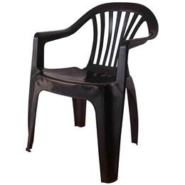 Conjunto de Mesa Monobloco e 4 cadeiras poltrona Preta - Antares