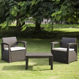 Conjunto de Sofá 2 Lugares Para Jardim/Área Externa Rattan - D7HOME