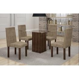 Conjunto Mesa De Jantar Havana C/ 04 Cadeiras - Cel Móveis