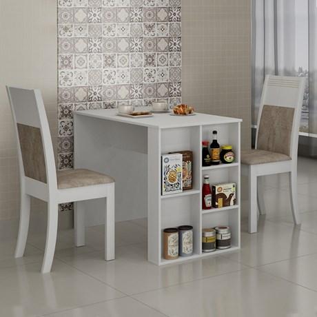 Conjunto Mesa de Jantar Siena c/ 2 Cadeiras Ravena - Cel Móveis