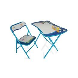 Conjunto Mesa e Cadeira Infantil Espaço 2 Peças Azul - Antares