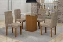 Conjunto Mesa Jantar Havana C/ 04 Cadeiras - Cel Móveis