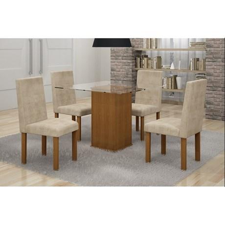 Conjunto Mesa Jantar Havana c/4 Cadeiras - Cel Móveis