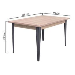 Conjunto Mesa Madeira 140X90 4 Cadeiras Md12 AGLCS