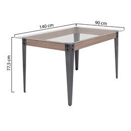 Conjunto Mesa Madeira 140X90 Com 6 Cadeiras Md05 CGLCS