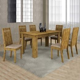 Conjunto Mesa Ouro Preto 160x80cm c/ 6 Cadeiras Ouro Preto  - Cel Móveis