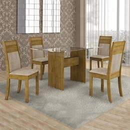 Conjunto Mesa Ravena 120x80 cm c/4 Cadeiras Ravena  - Cel Móveis