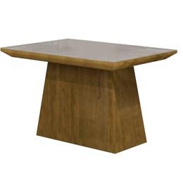 Conjunto Mesa Sevilha Suede Pena 84/Ypê 120x90 cm c/ 4 Cadeiras Sevilha vidro Off White - Cel Móveis