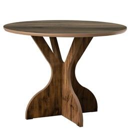 Conjunto para Sala de Jantar com Mesa Redonda TM11 e 4 Cadeiras 100% MDF - Dalla Costa