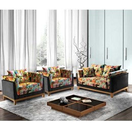 Conjunto Poltronas Decorativas 1 e 2 Lugares Paris - Leo Decor