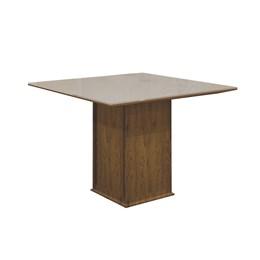 Conjunto Sala de Jantar Canela Mesa Tampo MDF/Vidro Napoli e 4 Cadeiras Havaí - Leifer