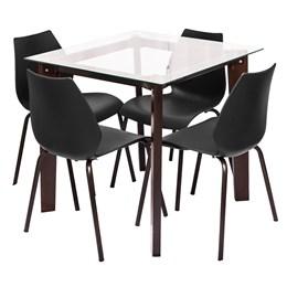 Conjunto Sala de Jantar Elegance 4 Cadeiras - Modecor