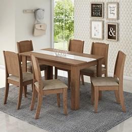 Conjunto Sala de Jantar Mesa Barbara 6 Cadeiras Cimol