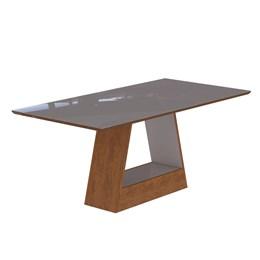 Conjunto Sala de Jantar Mesa Bege Alana 6 Cadeiras Milena - Cimol Savana