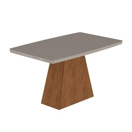 Conjunto Sala de Jantar Mesa Cacau Helen 4 Cadeiras Milena - Cimol Savana
