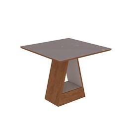 Conjunto Sala de Jantar Mesa Chocolate Alana 4 Cadeiras Milena - Cimol Savana