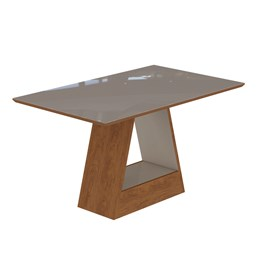 Conjunto Sala de Jantar Mesa Chocolate Alana Retângular 4 Cadeiras Milena - Cimol Savana