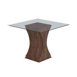 Conjunto Sala de Jantar Mesa Chocolate Andráia 4 Cadeiras Milena - Cimol Marrocos