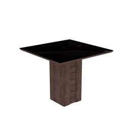 Conjunto Sala de Jantar Mesa Suede Bege Tampo em Vidro Rafaela 4 Cadeiras Milena - Cimol Marrocos
