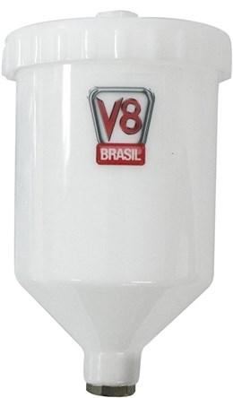 Copo Para Pistola de Pintura Hvlp - 600ml - V8 Brasil