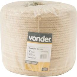 Corda de sisal 8 mm com rolo de 220 metros - Vonder