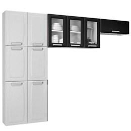 Cozinha Compacta 3 Peças Com Vidro Luce Branco/preto - Itatiaia