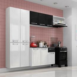 Cozinha Compacta Amanda 10 Portas e 1 Gaveta Branco/Preto - Itatiaia