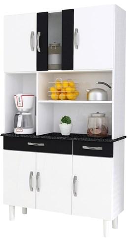 Cozinha Compacta Kit 6 Portas Estilo - Kaiki Móveis