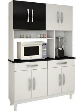 Cozinha Compacta Kit 8 Portas Gardência - kaiki Móveis