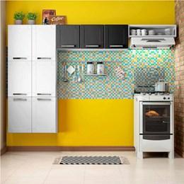 Cozinha Compacta sem Balcão 3 Peças Múltipla Branco Preto - Bertolini