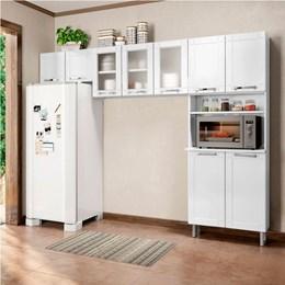 Cozinha Compacta sem Balcão Torre Quente 3 Peças Com 3 Vidros Múltipla Branco - Bertolini