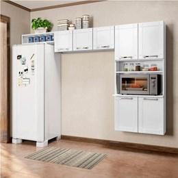 Cozinha Compacta sem Balcão Torre Quente 3 Peças Múltipla Branco - Bertolini