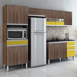Cozinha Completa 4 Peças com Tampo Turmalina Mocaccino/Amarelo - CHF