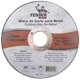 Disco Corte 115x1,0x22,22 Fender 5 Unidade
