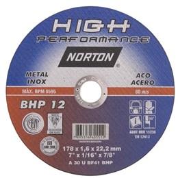 Disco de corte 177 mm x 1,6 mm x 22,2 mm BHP12 NORTON