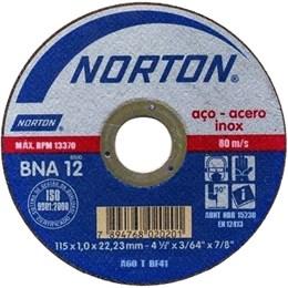Disco de Corte 4.1/2 para Inox BNA 12 Norton