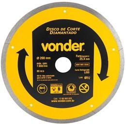 Disco de Corte Diamantado 200mm Liso VONDER