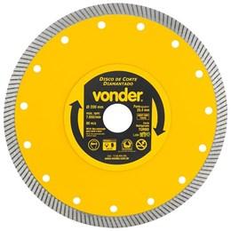 Disco de corte diamantado 200mm turbo VONDER