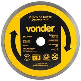 Disco de Corte Diamantado 230mm Liso VONDER