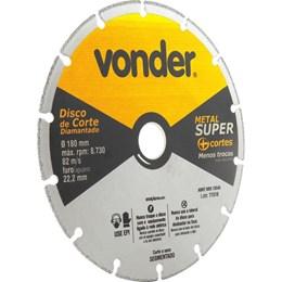 Disco de Corte Diamantado Segmentado P/ Metais 180mm VONDER