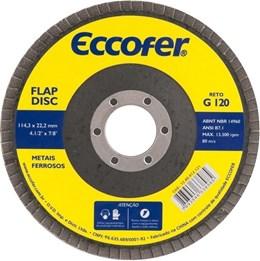 Disco De Desbaste  E Acabamento Flap-disc Reto 4.1/2 Grão 50 Costado de Fibra ECCOFER
