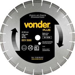 Disco Diamantado Para Asfalto e Concreto 350mm VONDER