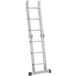 Escada articulada em alumínio 12 Degraus - Vonder