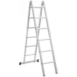 Escada articulada em alumínio, 12 Degraus - Vonder