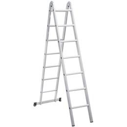Escada articulada em alumínio, 14 Degraus - Vonder