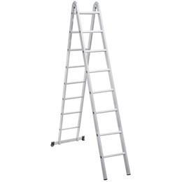 Escada articulada em alumínio, 16 Degraus - Vonder