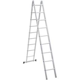 Escada articulada em alumínio 18 Degraus - Vonder